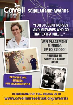 Our Scholarship Awards are now open for 2014-15. Visit our website to apply www.cavellnursestrust.org/awards #student #scholarship #nursing #midwifery