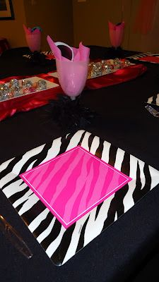 Diva birthday party place setting