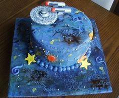 Star Trek birthday cake