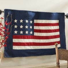 Proud American Flag Wallhanging $9.99 ...Hurry before they are sold out! Like us Facebook--> www.facebook.com/athomewithteresas