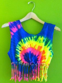 Hey, I found this really awesome Etsy listing at https://www.etsy.com/listing/150979171/beaded-tie-dye-crop-top-with-glow-in-the