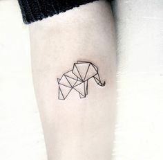 75 Big And Small Elephant Tattoo Ideas - Brighter Craft - 75 . - 75 Big And Small Elephant Tattoo Ideas – Brighter Craft – 75 Big And Small E - Little Tattoos, Mini Tattoos, Trendy Tattoos, Cute Tattoos, Beautiful Tattoos, Small Tattoos, Tatoos, Tattoo Diy, Origami Tattoo