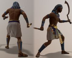 Anubis Warrior game model created with 3dsMax, Zbrush, Substance Painter and rendered in Marmoset Toolbag.