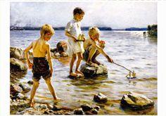 Albert Edelfelt - Leikkiviä poikia rannalla 1884