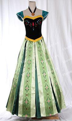 Anna Coronation Dress Disney Frozen Princess