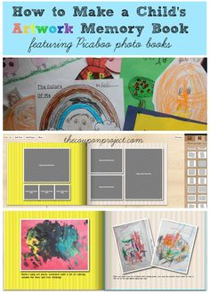 How to make a Child's artwork memory book | The Coupon Project #picaboo http://thecouponproject.com/how-to-make-a-childs-artwork-memory-book-featuring-picaboo-photo-books-giveaway/