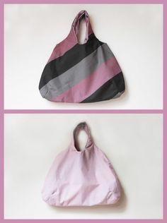 Fotonávod: Oboustranná nákupní taška do kabelky - Prošikulky.cz Textiles, Drawstring Backpack, Gym Bag, Backpacks, Tote Bag, Baskets, Couture, Projects, Tela