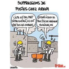 Les salariés d'Areva appelés à faire grève - Dessin du jour - Urtikan.net