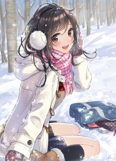 Uploaded by 🍃🌸 KURD 🌸🍃. Find images and videos about anime, winter and kawaii on We Heart It - the app to get lost in what you love. Anime Gifs, Manga Anime, Hot Anime, Anime Snow, Anime Neko, Yandere, Humour Geek, Otaku, Anime School Girl