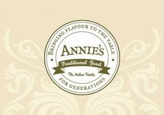 Annie's Traditional Food branding Food Branding, Logo Design Inspiration, Tasty, Traditional, Restaurants, Miniature, Boxes, Shop, Crates