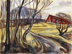 The Red House 1926. Edward Munch (1863-1944)