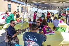 Air Evac Lifeteam 66 employees ate burgers and hot dogs with friends, first responders and anyone who felt like stopping by for lunch on a sunny Wednesday near Metroplex Hospital's medevac landing pad in Killeen.