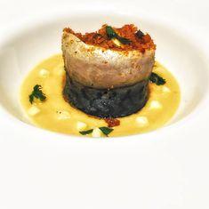 Sgombro a beccafico su salsa di sedano rapa e nespole - di Marco Musso #fuudly #ricette #nespole