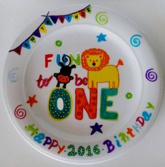 Check out this item in my Etsy shop https://www.etsy.com/uk/listing/484268301/first-birthday-plate-happy-birthday