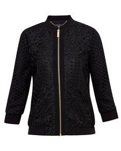 Geo Lace bomber jacket - Black   Jackets & Coats   Ted Baker UK