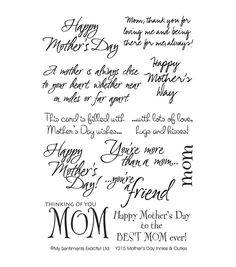 Mother's Day Acrostic Poem Card Make your own Mother's Day Acrostic Poem. What does