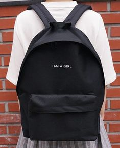 f0abeb627cce Bag  backpack school cute tumblr minimalist school girl back to school  quote on it gift ideas cool