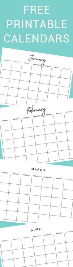 Free Printable Calendar from Thyme is Honey! Clean, simple design. Three options to choose from!