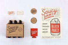 Saucy Sam's by Alex Register, via Behance