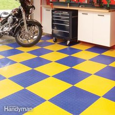 #Garage floors can be pretty boring. Why not get create with some of these finishing options?