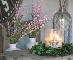 Because sometimes you just need something pretty to make it through Wednesday  #southernfireflycandle #homedecor #handpoured #nashville