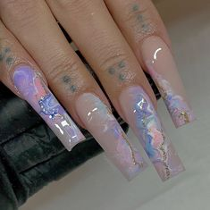Drip Nails, Bling Acrylic Nails, Square Acrylic Nails, White Acrylic Nails, Best Acrylic Nails, Bling Nails, Square Nails, Cute Acrylic Nail Designs, Nail Designs Bling