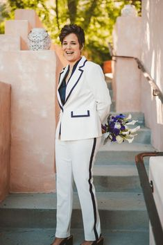 Stylish Same-Sex Palm Springs Wedding – Colony 29 – Ryan Horban Photography 22 We can not ever get enough of this midcentury modern, cactus-filled, palm tree paradise especially with this two extremely fashionable brides and a guest list dressed oh-so-well. #bridalmusings #bmloves #wedding #ido #bride #lgbt #lgbtq #palmsprings #50s #60s #modernismweek #palmspringswedding #lgbtwedding 60s Attire, Dress Attire, Spring Wedding, Wedding Day, My Wedding Planner, The Wedding Singer, Lgbt Wedding, Bridal Musings, Guest List