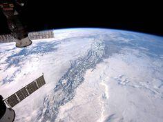Las montañas rocosas desde la ISS