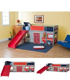1000 ideas about fire truck beds on pinterest truck room truck bed and toddler bed - Fireman bunk bed ...