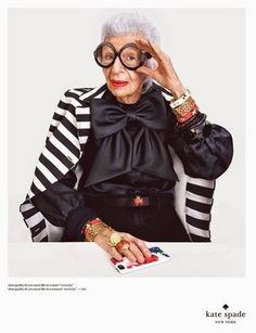 The ever-fabulous Iris Apfel makes an appearance in Kate Spade's spring/summer 2015 campaign.
