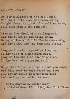 Sailors prayer