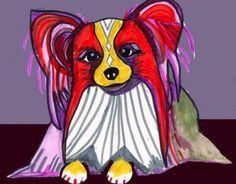 11x14 Papillon Art Dog Print Pop Art Poster by HeatherGallerArt, $24.00