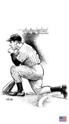 Joe Dimaggio, New York Yankees, Mlb, Fictional Characters, Fantasy Characters