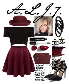 """""""Black Cherries"""" by ashanti7 ❤ liked on Polyvore featuring Brooks Brothers, MICHAEL Michael Kors, Serge Lutens, Furla, Marc Jacobs and NARS Cosmetics"""