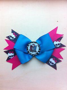 Monster High School Badge Hair Bow by lendura on Etsy, $5.99