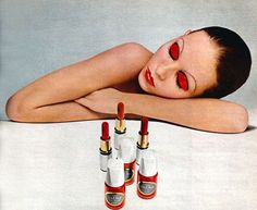 """lelaid: """" Shot by Serge Lutens for Christian Dior Beauty, 1971 """" Vintage Makeup Ads, 70s Makeup, High Fashion Makeup, Dior Makeup, Vintage Dior, Vintage Beauty, Vintage Ads, Retro Ads, Fashion Vintage"""