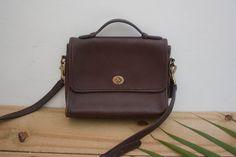 Vintage Leather COACH Court Bag / Coach Bag 9870 / by HeistVintage, $75.00