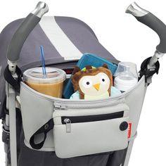 Skip Hop Grab & Go Stroller Organiser Drinks Phone Toys Caddy - Platinum - Buy Online Pram Accessories