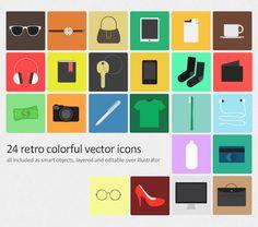Flat Colors Ui Framework photoshop PSD downloadDesigners Revolution Vector Art Resources Download