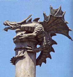 dragon chimney topper