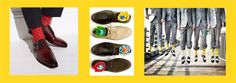 Fashion-Men: Bunt soll es sein Vorbei ist die gähnende Langeweile der tristen Socken wie in grau, schwarz und noch schwärzer. Die Modebranche fordert die Herren der Schöpfung auf, mehr Mut zu bunten Socken zu beweisen, die jeden Schuh aufpeppen. Fröhliche Farben stehen für Lebensfreude und Mut zum Neuen. Das Leben ist viel zu bunt, um es untenrum langweilig zu gestalten.