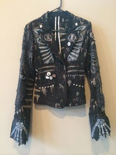 Rocker suit coats by Chad Cherry from Chad Cherry Clothing. Punk Outfits, Fashion Outfits, Spiked Leather Jacket, Pumpkin Outfit, Rocker Look, Punk Jackets, Battle Jacket, Goth Look, Rock Clothing