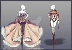 [Open] Design by Lonary on DeviantArt Dress Drawing, Drawing Clothes, Fashion Design Drawings, Fashion Sketches, Character Outfits, Character Art, Vestidos Anime, Poses References, Anime Dress