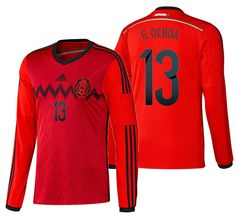 73f2a4a8644 Adidas guillermo ochoa mexico long sleeve away jersey fifa world cup brazil  2014