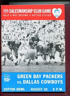 1965 GREEN BAY PACKERS AT DALLAS COWBOYS NFL FOOTBALL GAME PROGRAM