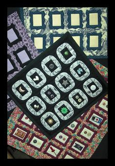 Quilted wall hanging pattern - Memory Frames - Sizes vary - $10