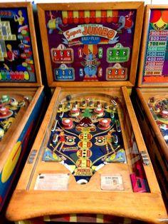 """1954 Supremo Jumbo """"Gottlieb """" First Multiplayer Woodrail Pinball Game"""