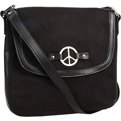 $30.71 Minnetonka Cross Over Bag W/Peace Sign .....LOVE LOVE LOVE THIS ONE!! Oh in RED would be perfect!!