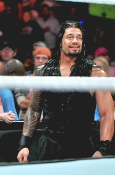 Smiling Roman Reigns