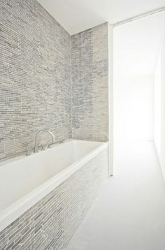 * skinny tile #tub #neutrals
